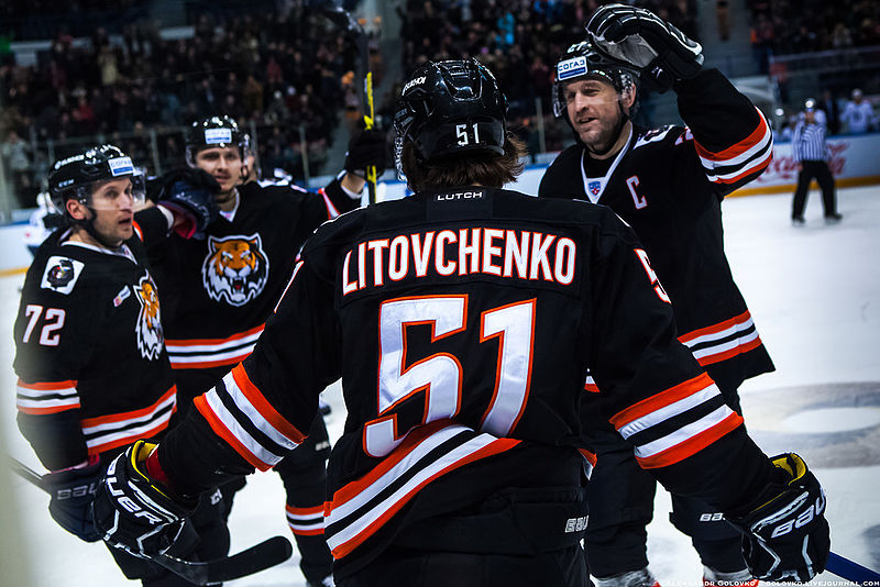 Litovchenko con la maglia dell'Amur, ora giocatore dell'Avto
